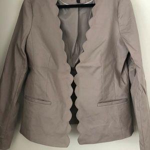 Banana Republic scallop edge blazer (size 14)